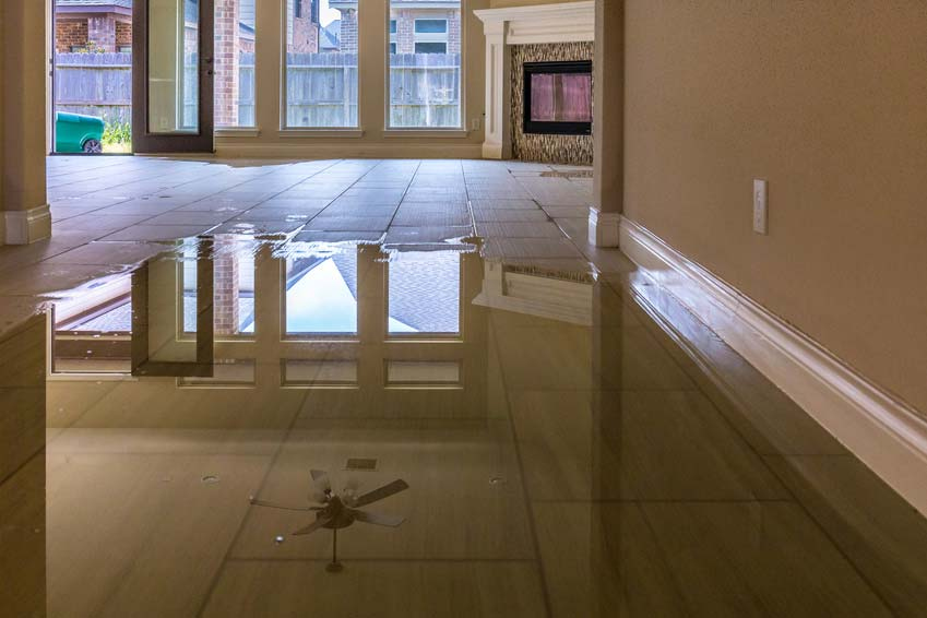 hurricane flooding in home